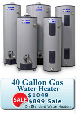 40 gallon water heater special